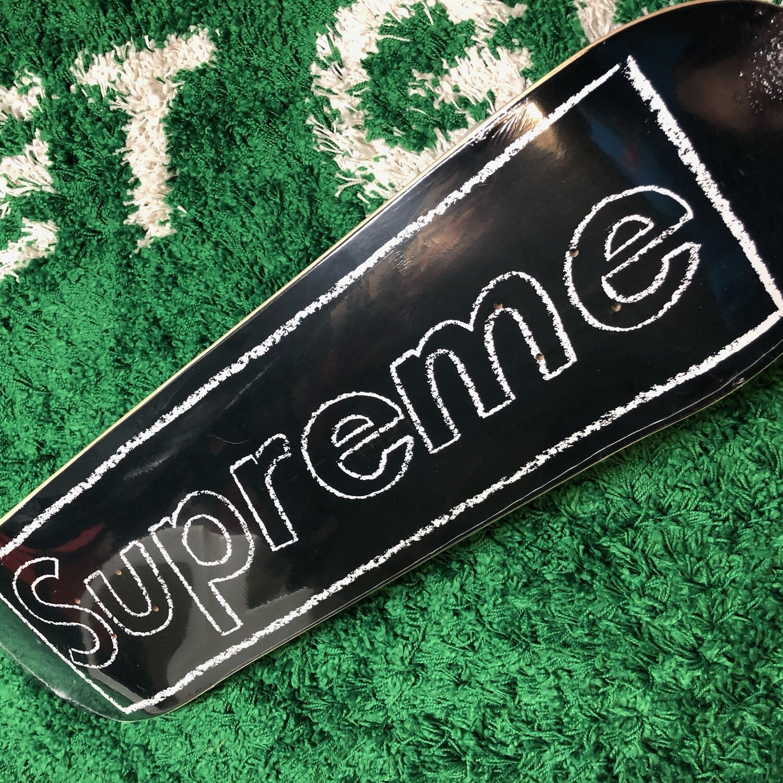 Supreme KAWS Chalk Logo Skateboard Deck Black