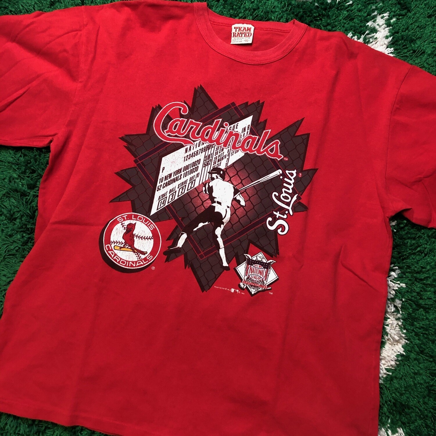 St. Louis Cardinals 1993 Tee Red Size XL