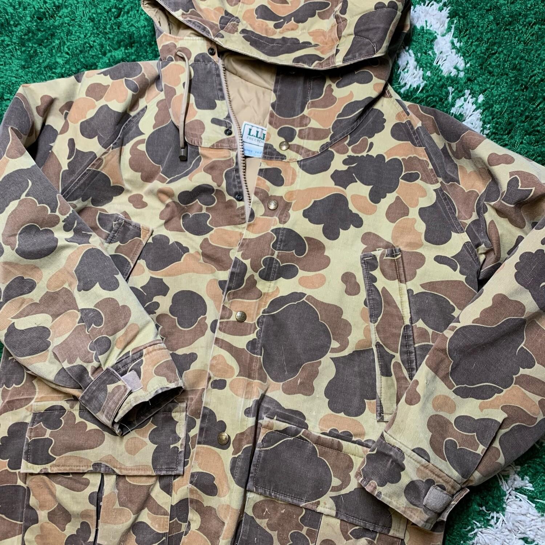 L.L. Bean Duck Camo Vintage Jacket Size Large