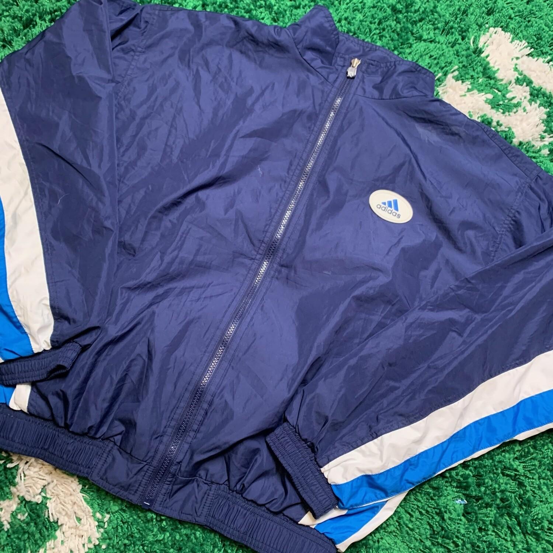 Adidas Jacket Blue/White Size Large