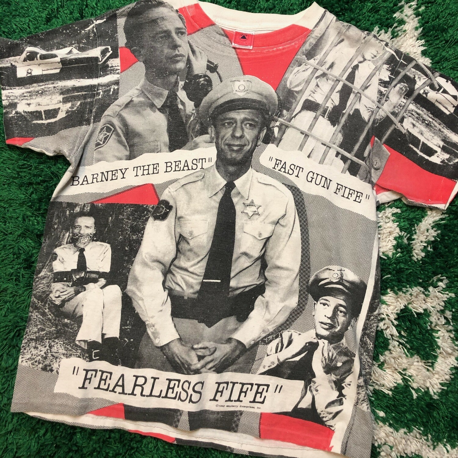 The Andy Griffith Show AOP Tee Size Large