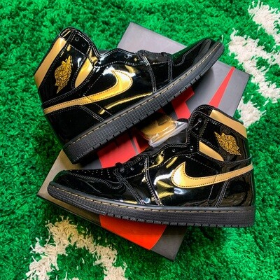 Jordan 1 Retro High Black Metallic Gold (2020) Size 11