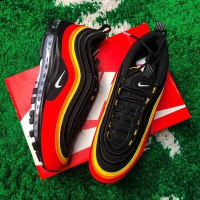 Nike Air Max 97 Black Chile Red Magma Orange Size 10