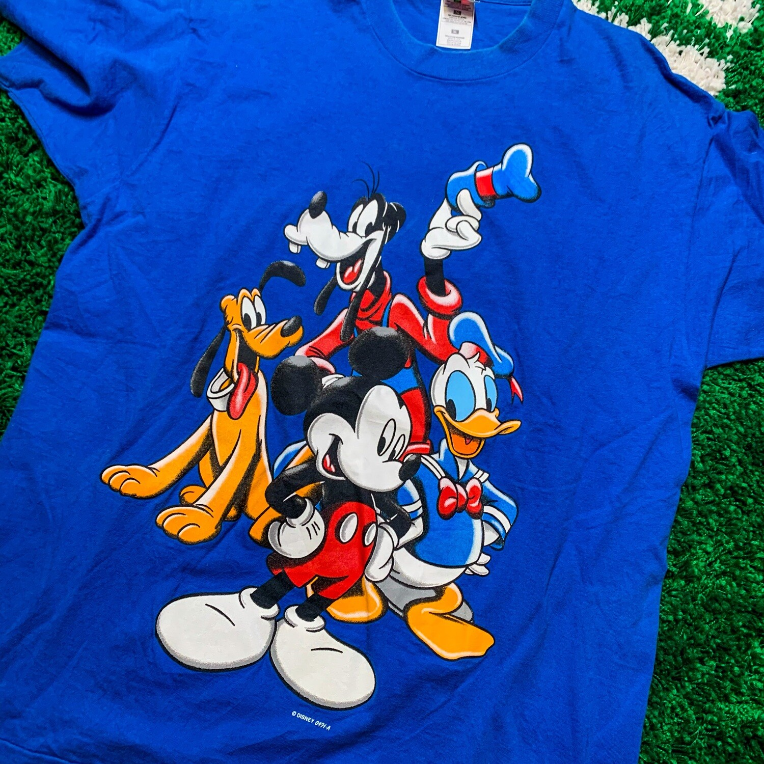 Disney Mickey and Friends Blue Tee Size XL