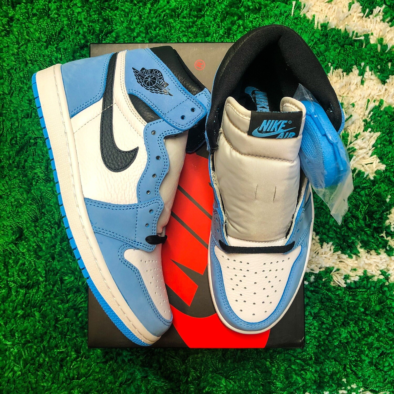 Jordan 1 Retro High White University Blue Black Size 8