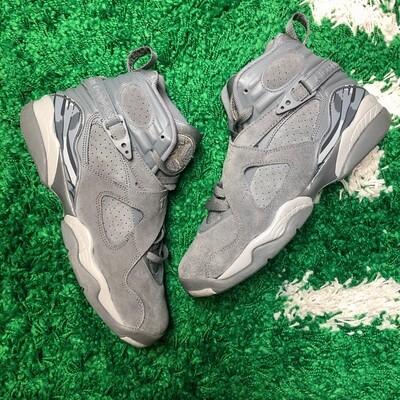 Air Jordan 8 Cool Grey Size 7Y