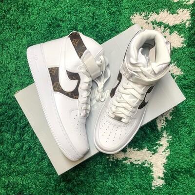 Nike Air Force 1 High White Custom Size 10
