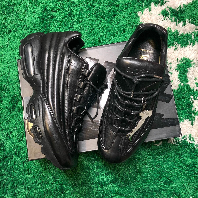 Nike Air Max 95 Lux Supreme Triple Black Size 8.5