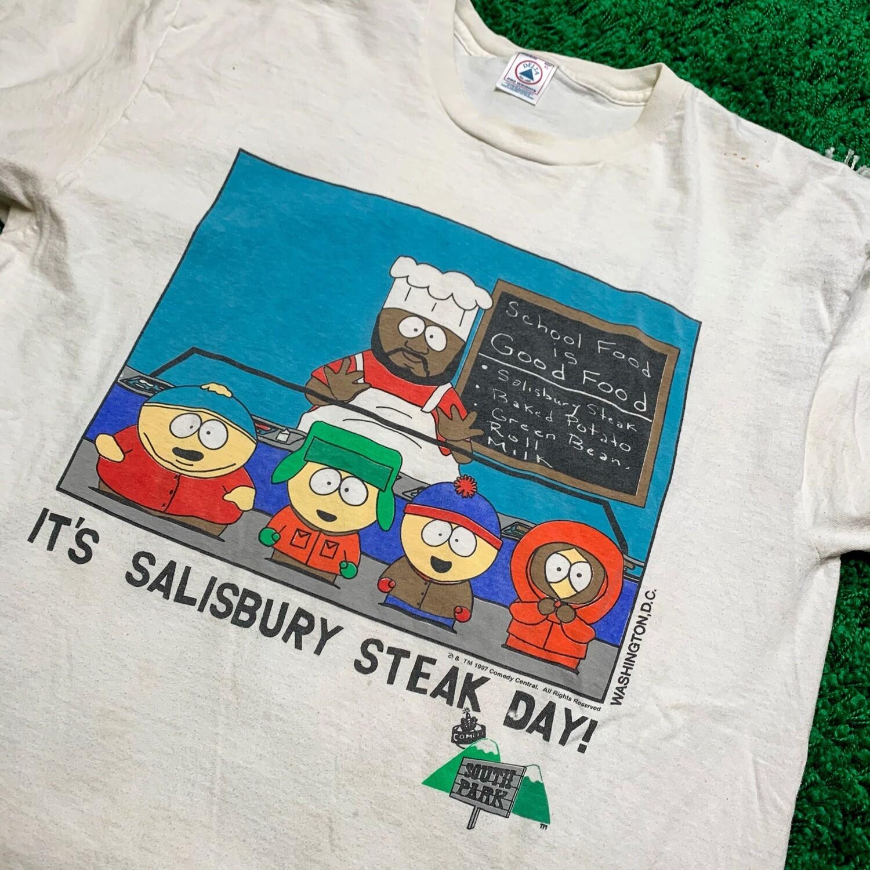 South Park It's Salisbury Steak Day 1997 Tee Size XL
