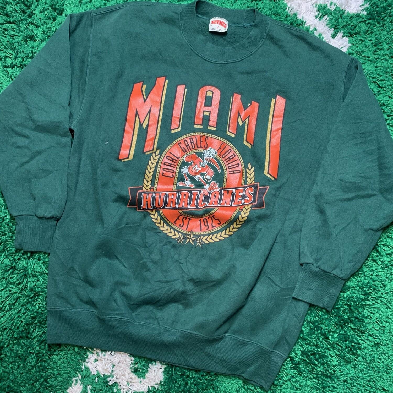 Miami Hurricanes Sweater Size XL