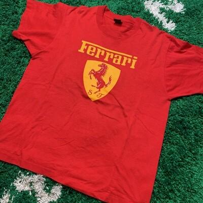 Ferrari Vintage Red Tee Size XL