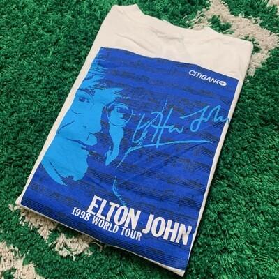 Elton John 1998 World Tour Citibank Tee Size XL