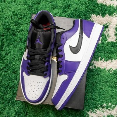 Air Jordan 1 Low Court Purple White Size 9.5