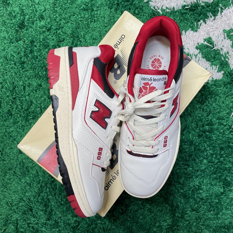 New Balance 550 Aime Leon Dore White Red Size 8.5