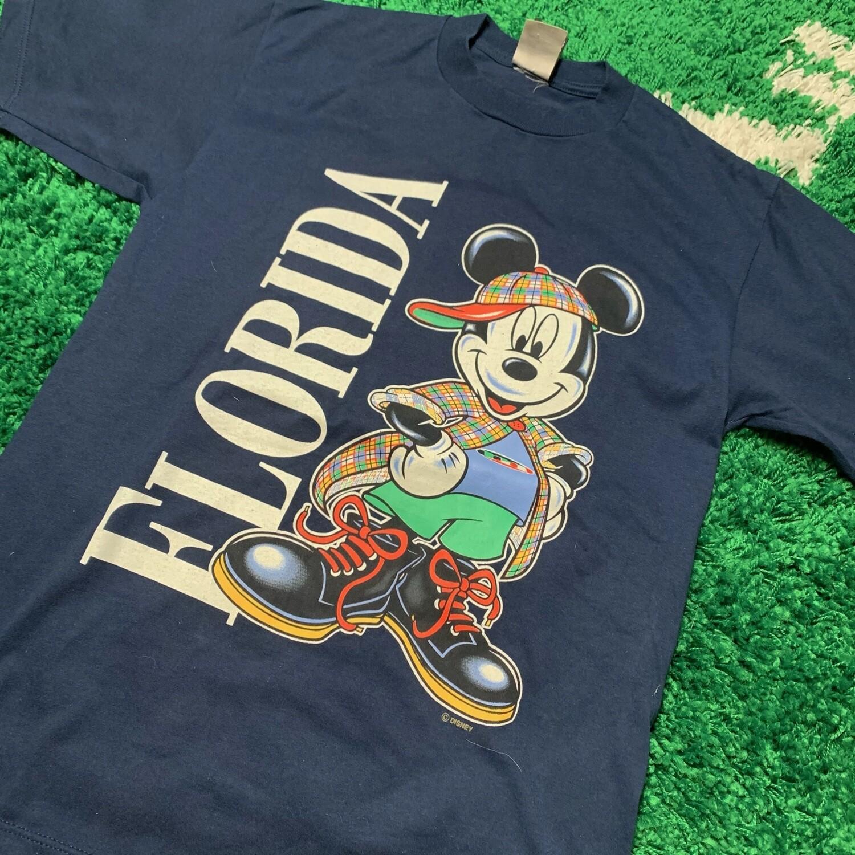 Florida Mickey Tee Navy Size Medium