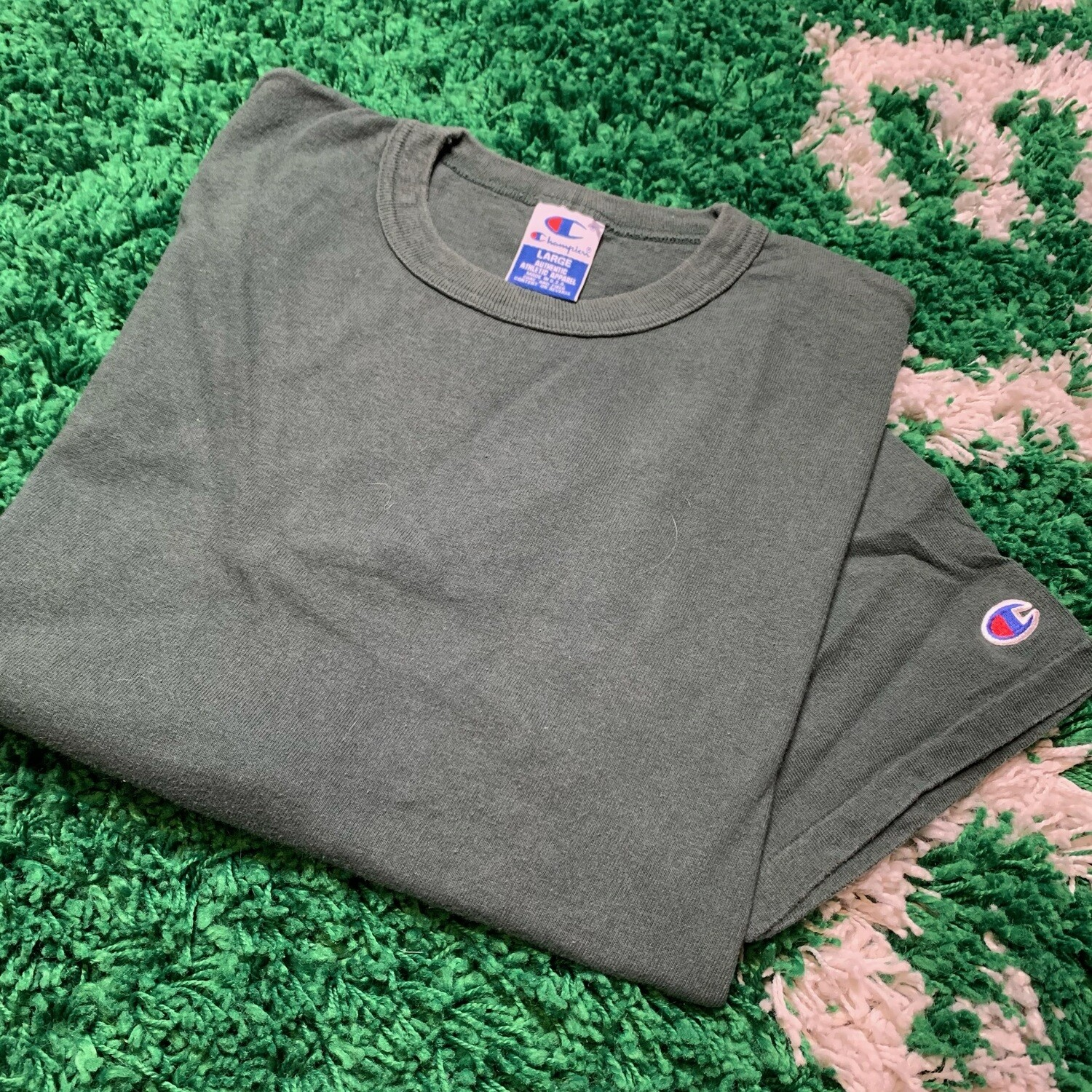 Champion Forest Green Tee Size Large