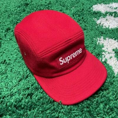 Supreme Wool Camp Cap Red