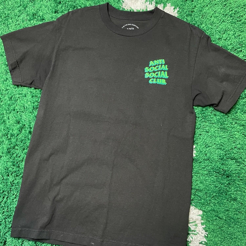 Anti Social Social Club Tee Black/Green Size Medium
