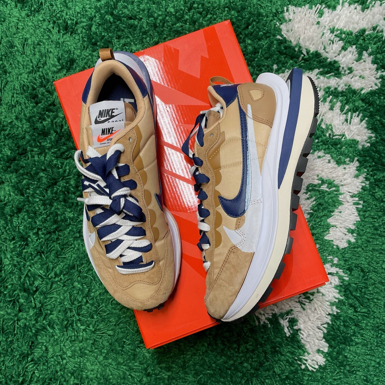 Nike Vaporwaffle sacai Sesame Blue Void Size 8