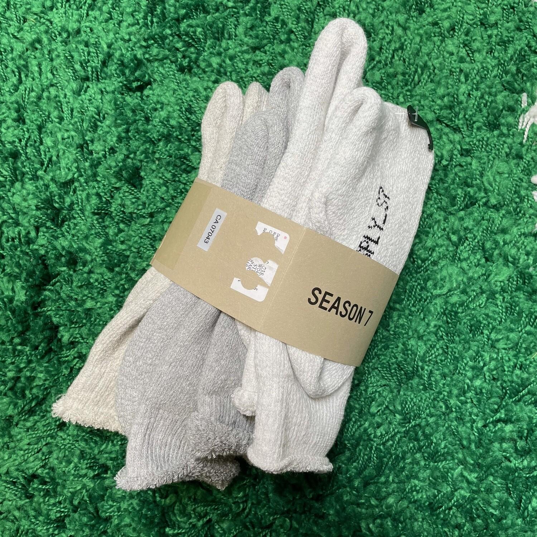 Yeezy Season 7 Socks 3 Pack S/M