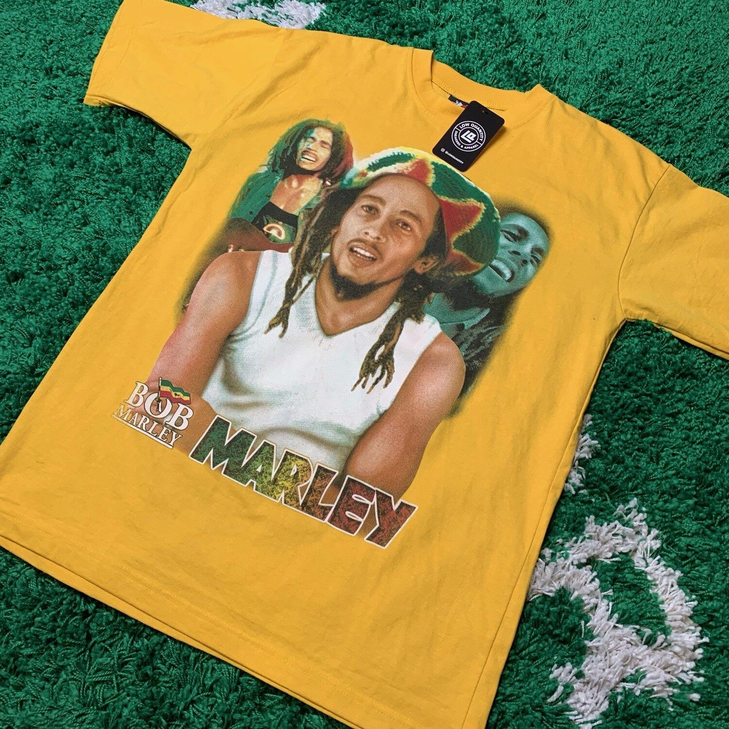 Bob Marley Double Sided Tee Yellow Size XL