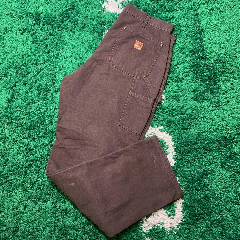 Carhartt Double Knee Pants Brown Size 36