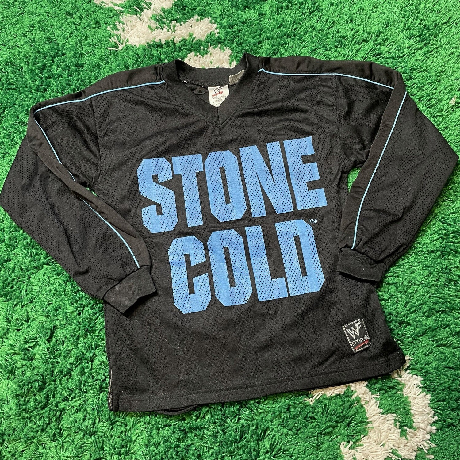 Stone Cold Dont Trust Anybody Long Sleeve Jersey Size Youth Large
