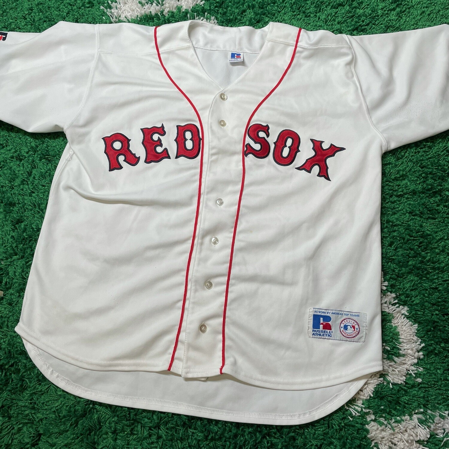 Boston Red Sox Russell Jersey Size Large