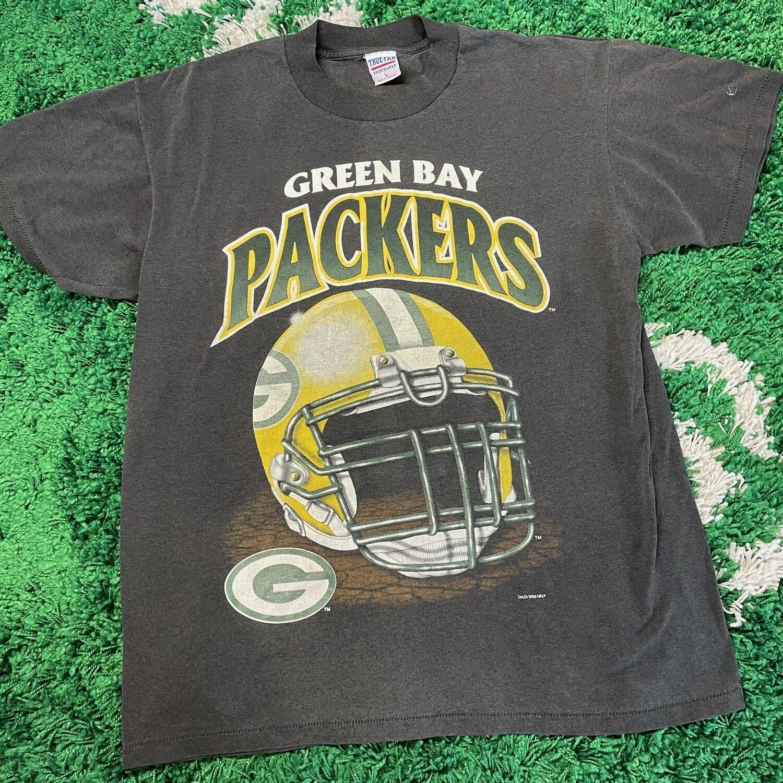 Green Bay Packers Helmet Tee 1996 Size Large