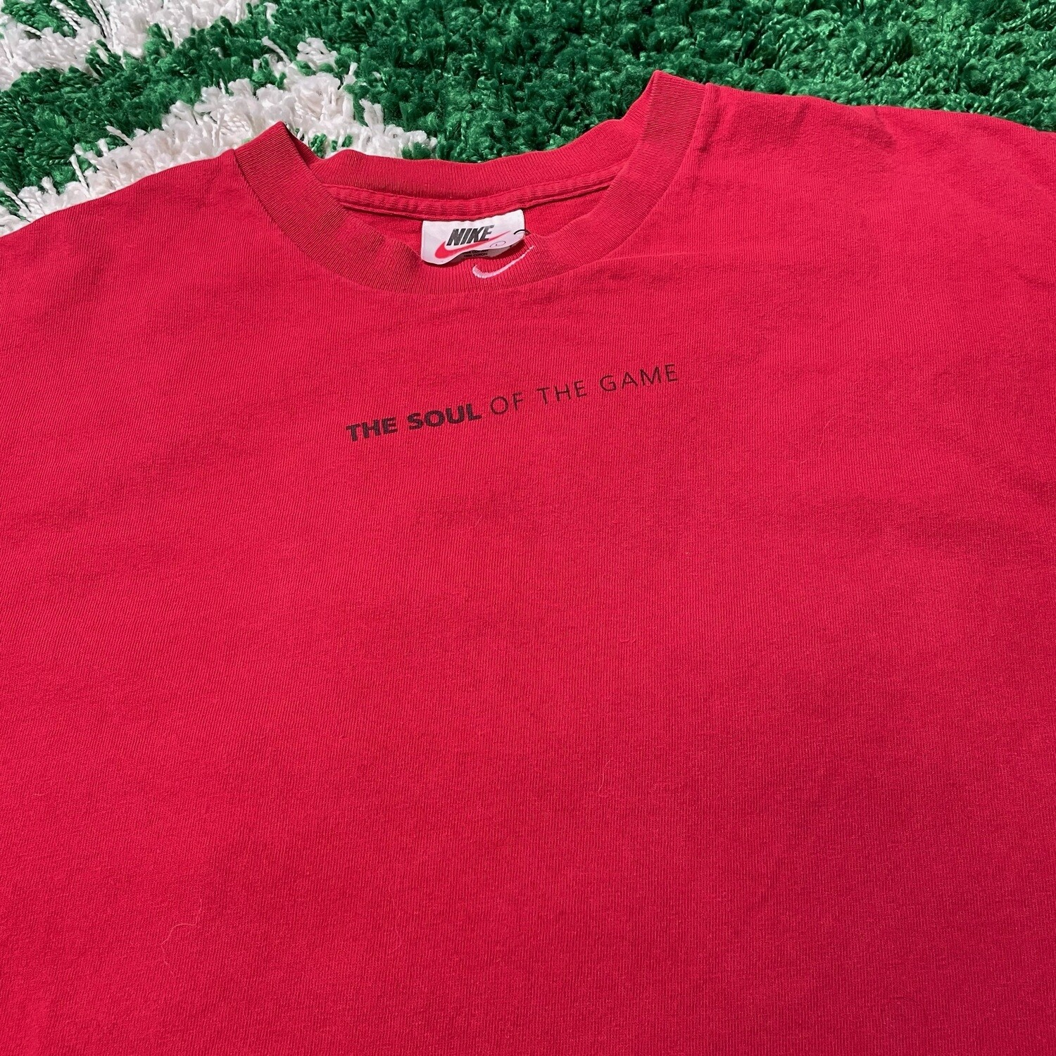 Nike The Soul of the Game Neck Swoosh Tee Size Large