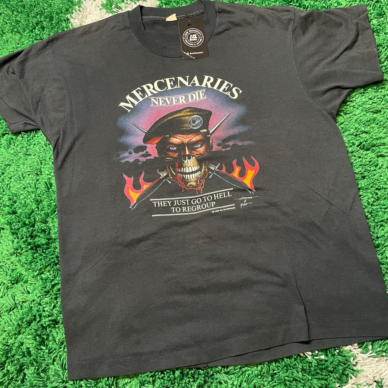 Mercenaries never die 1988 tee size large