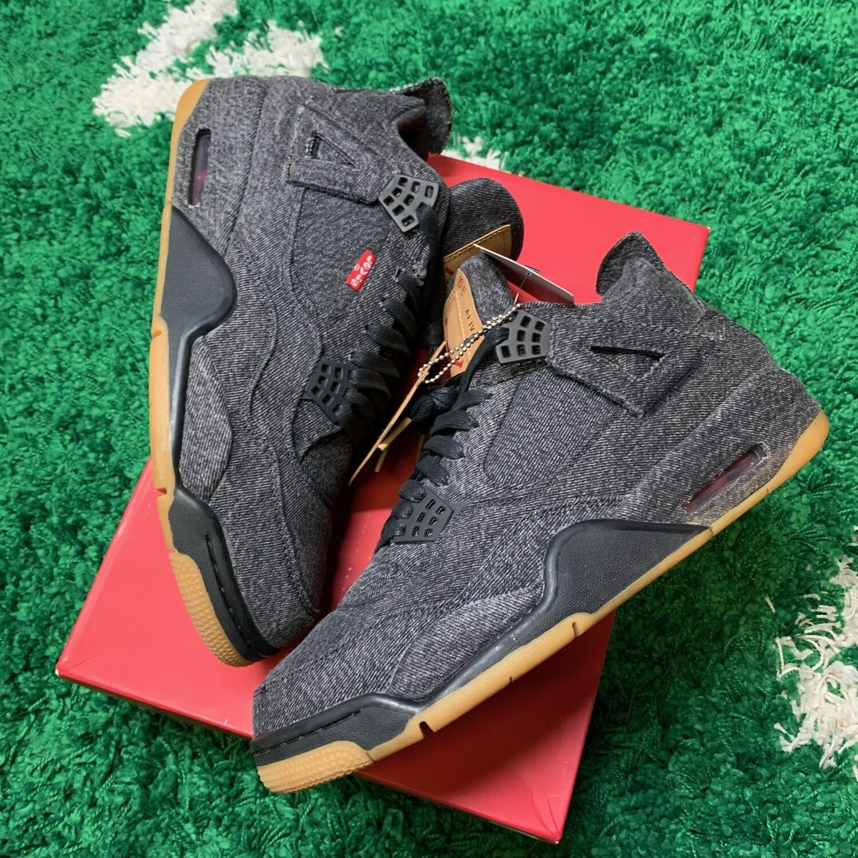 Air Jordan 4 Retro Levi's Black Size 11.5