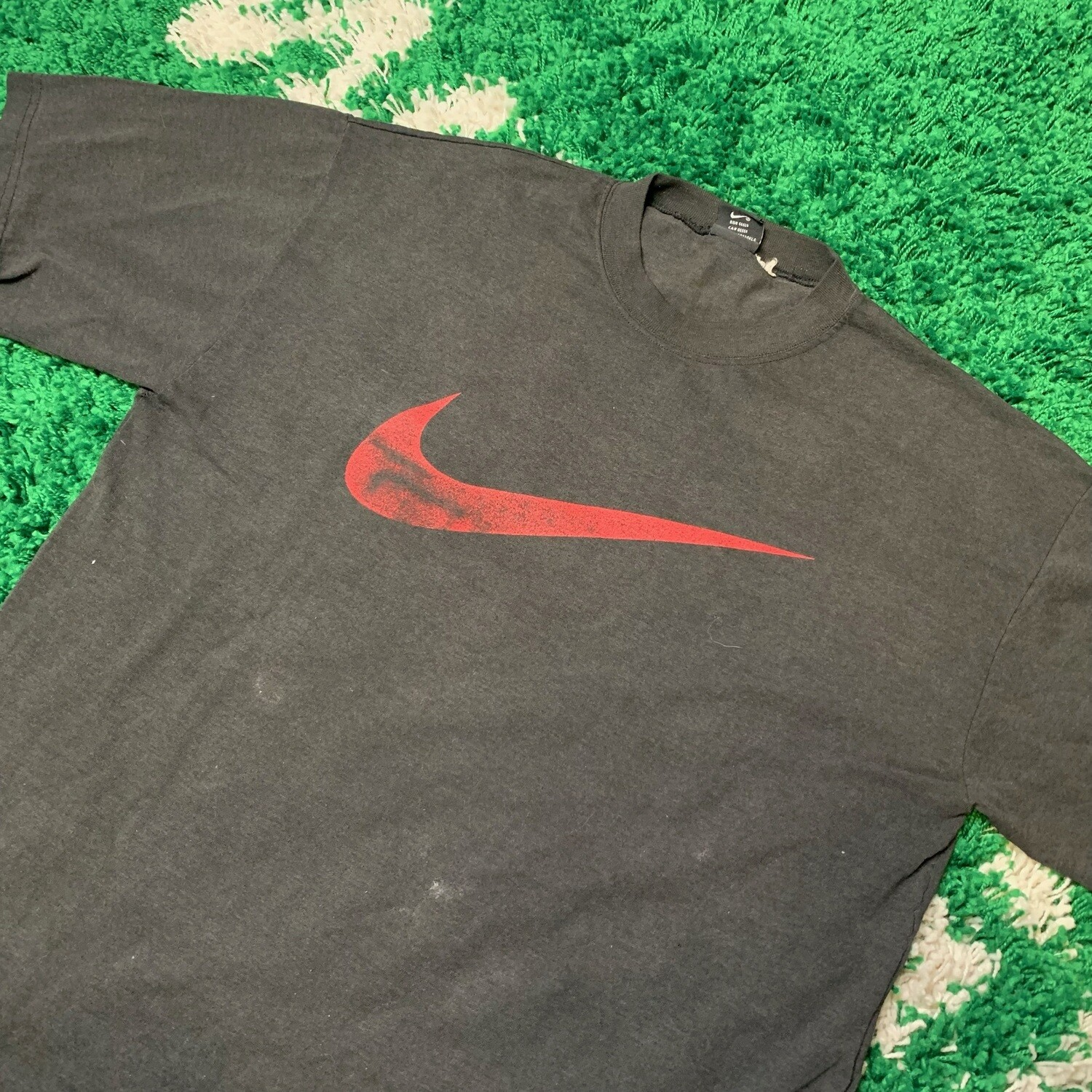 Nike Black and Red Swoosh Shirt Size Large