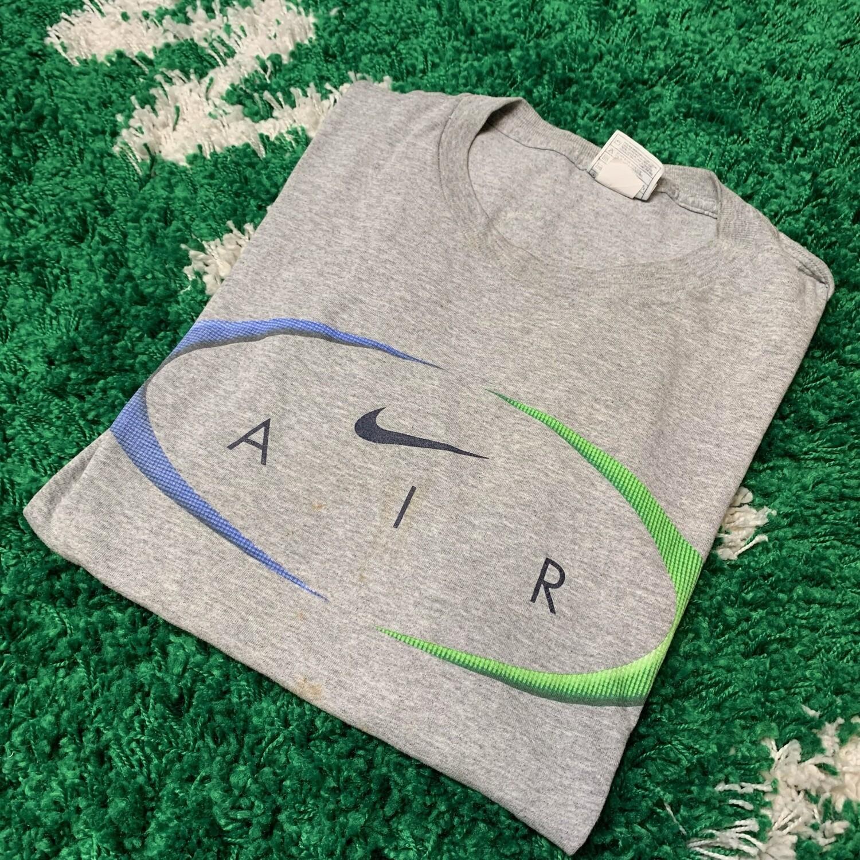 Nike Air Grey Blue Green Shirt Size Large