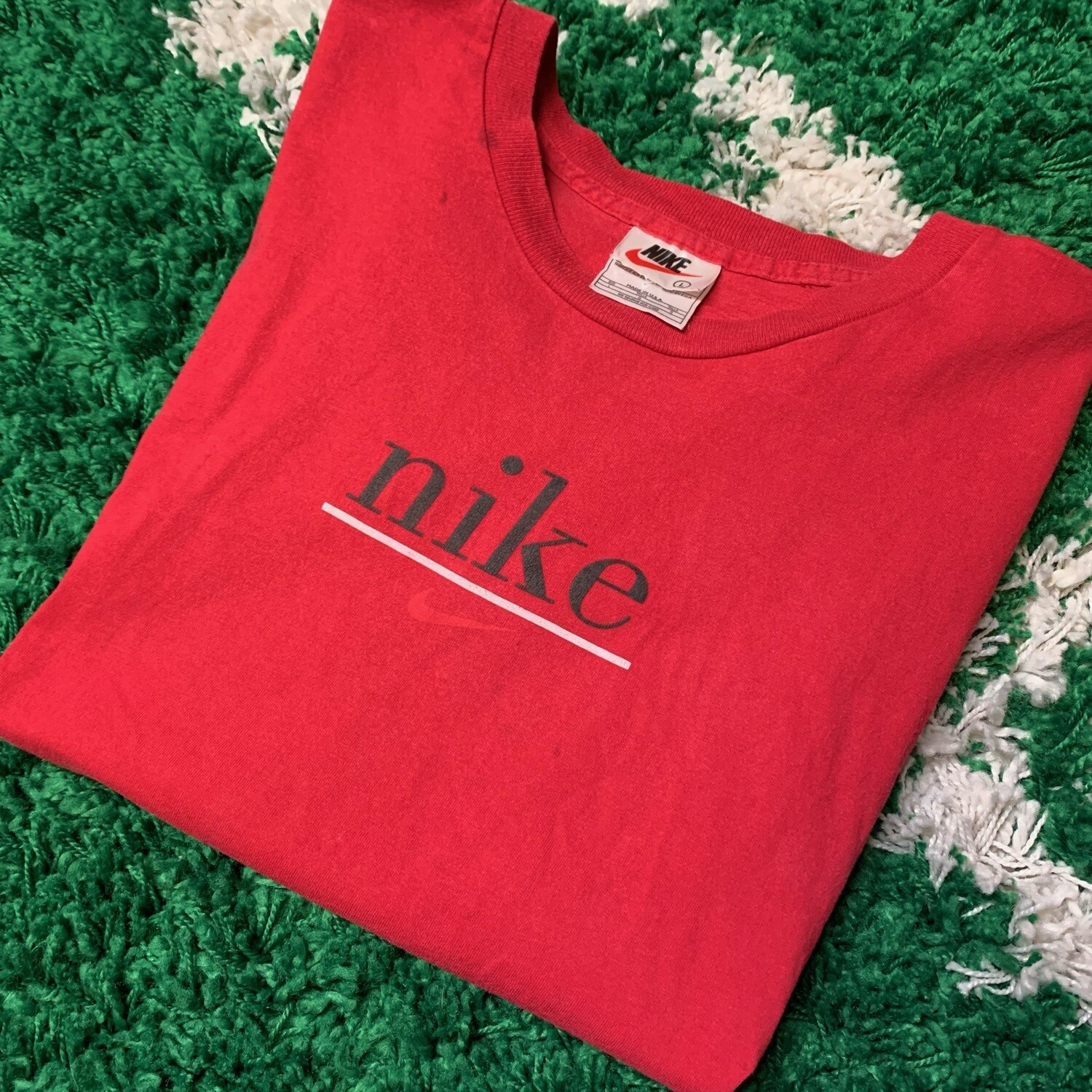 Nike Spellout Tee Red Size Medium