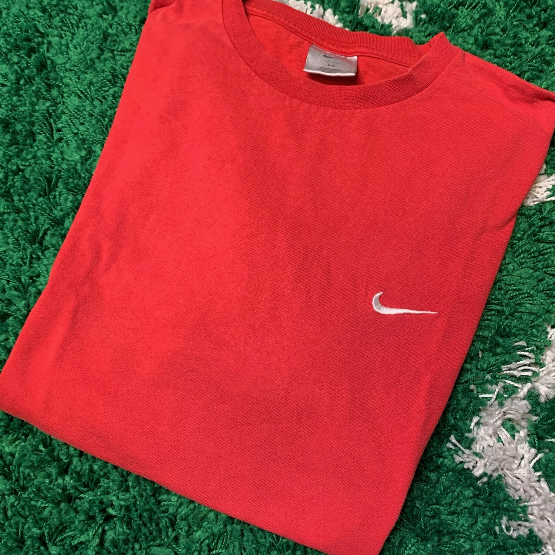 Nike Pocket Swoosh Red White Size Large