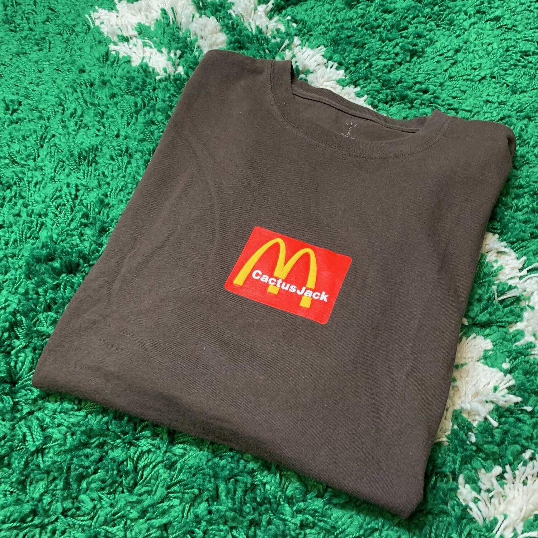 Travis Scott x McDonald's Sesame III T-shirt Brown Size Large