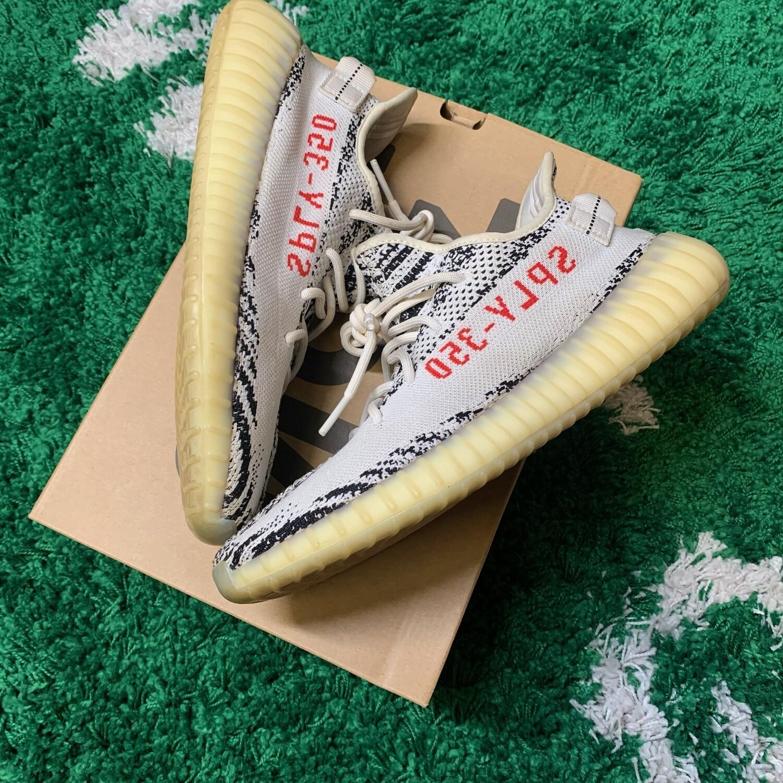 Adidas Yeezy Boost 350 Zebra Size 10