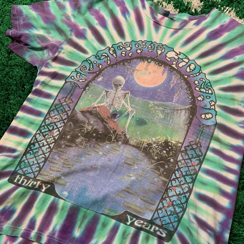 Grateful Dead 30 Years Vintage Tie Dye Shirt Size Large