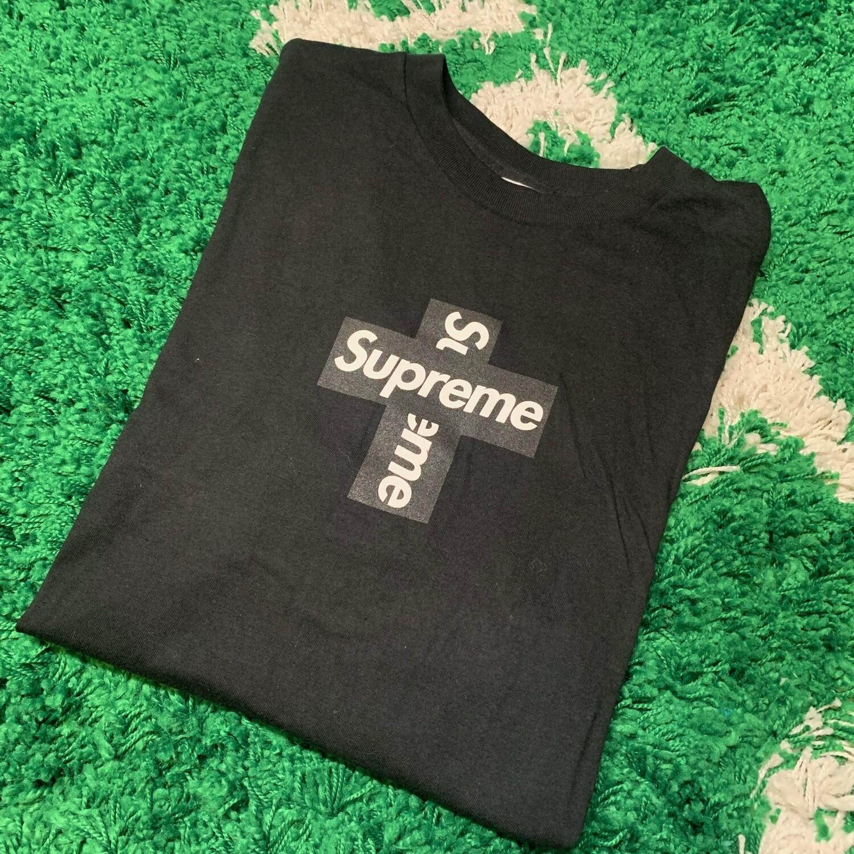 Supreme Cross Box Logo Black Size Medium