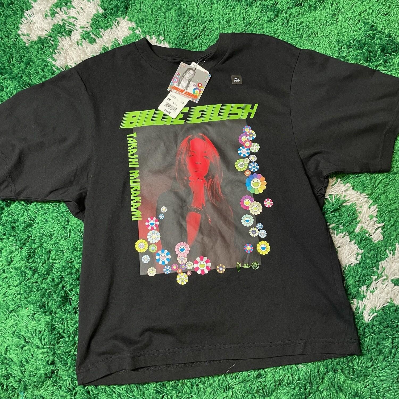 Billie Eilish Flower Photo T-Shirt (US Womens Sizing) Black Size XS