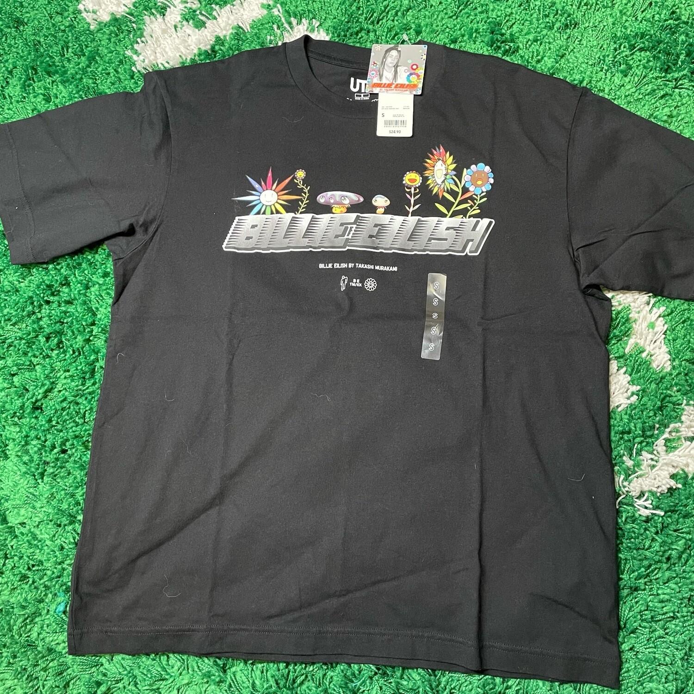 Billie Eilish Flowers T-Shirt (US Mens Sizing) Black Size Large