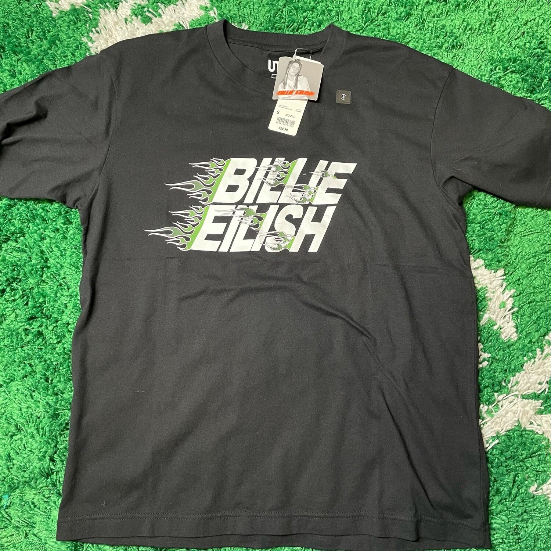 Billie Eilish Flames T-Shirt (US Mens Sizing) Black Size Small