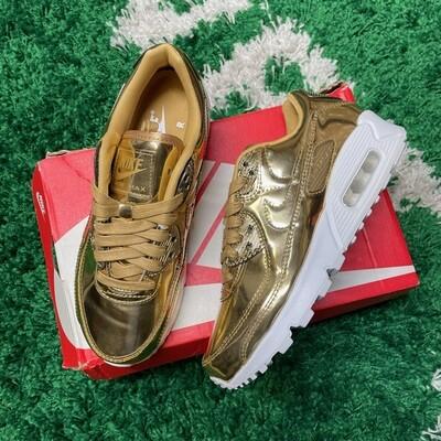 Nike Air Max 90 Metallic Gold 2020 Size 5.5(w)