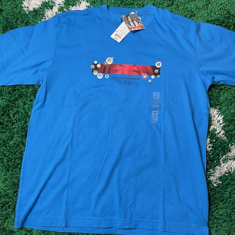 Billie Eilish Eyes T-Shirt (US Mens Sizing) Blue Size Large
