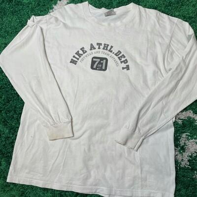 Nike Athl. Dept Long Sleeve White Size Large