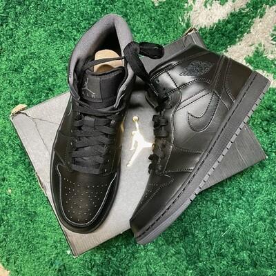 Air Jordan 1 Retro Mid Black (2016) Size 10.5