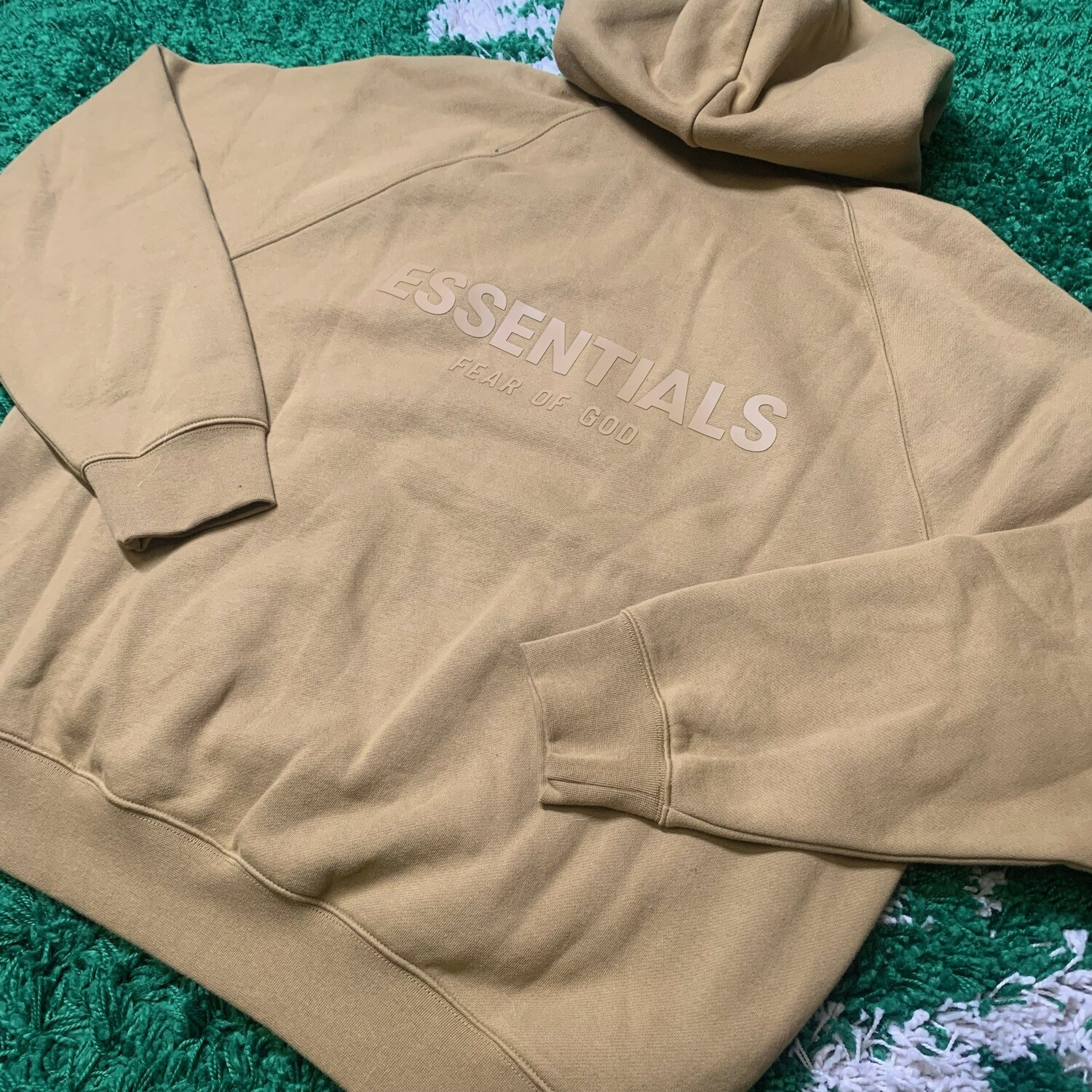 Fear of God Essentials Pullover Hoodie Amber Size Medium