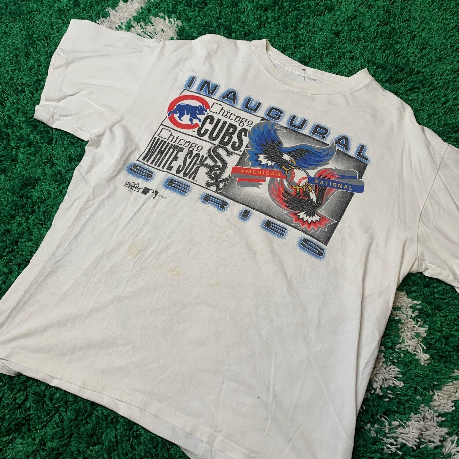 Chicago Cubs, White Sox Inaugural Series 1997 Size XL