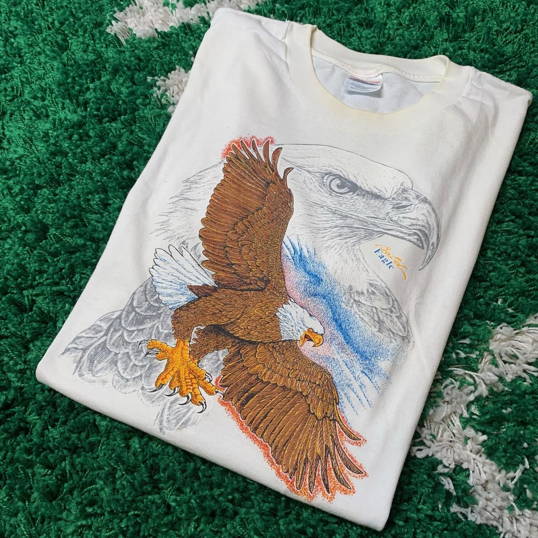 Bald Eagle Vintage Tee Size Large